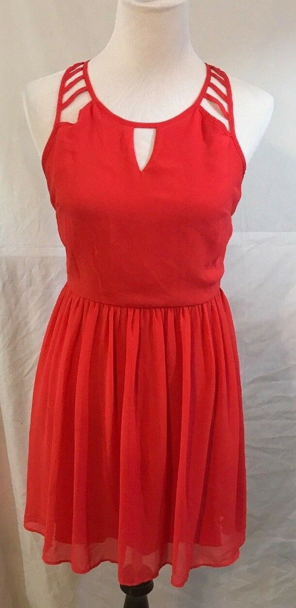 Junior's Orange Dress Size 5 by Sequin Hearts (03146)