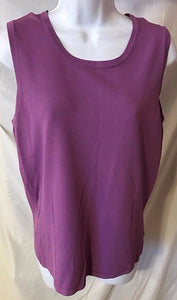 Women's Purple Sleeveless Top Size L by George (02693)