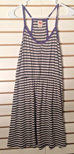 Women's Purple & White Striped Sundress Size M by Mossimo (02058)
