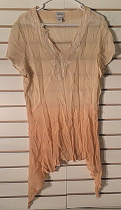 Women's Beige Sheer Tunic Top Size 18 by Together (00338)