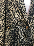 Women's Tan Animal Print Blazer Size 14 by Cache' (04044)