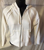Women's White Embellished Hooded Sweatshirt by Drincy by Jessica Simpson (02484)