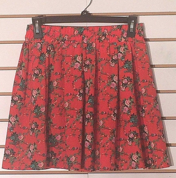 Women's Orange Floral Mini Skirt Size M by FOREVER 21 (02221)