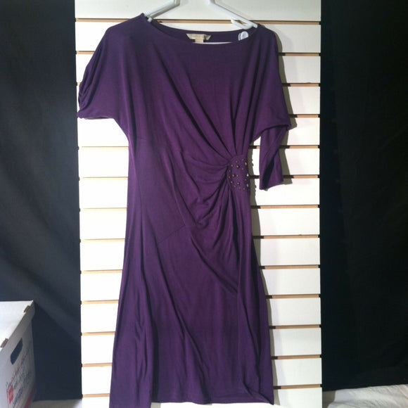 Women's Purple Knit Stretch Dress by Jonathan Martin (00937)