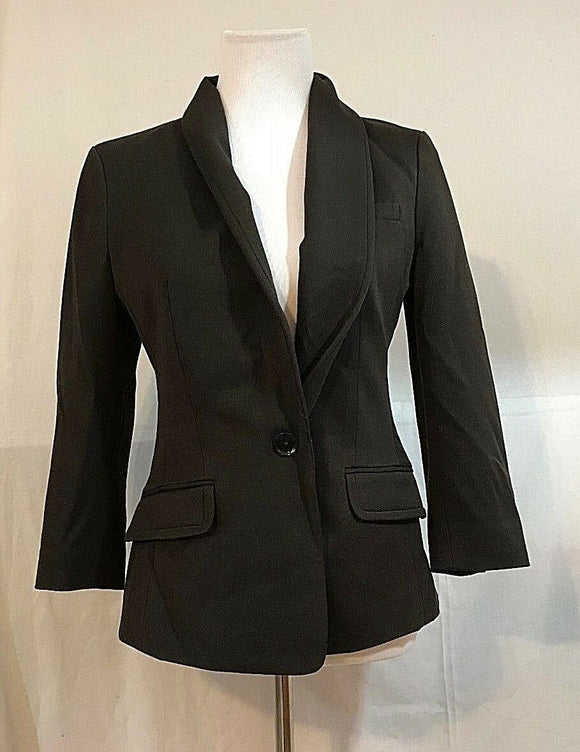 Women's Brown One Button Front Blazer Size 8 by Express (03300)