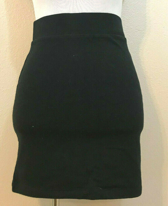 Women's Black Stretchy Straight Mini Skirt Size M by FOREVER 21 (04283)