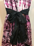 Junior's Pink, Black Empire Waist Party Dress Size 3 by Trixxi (04015)