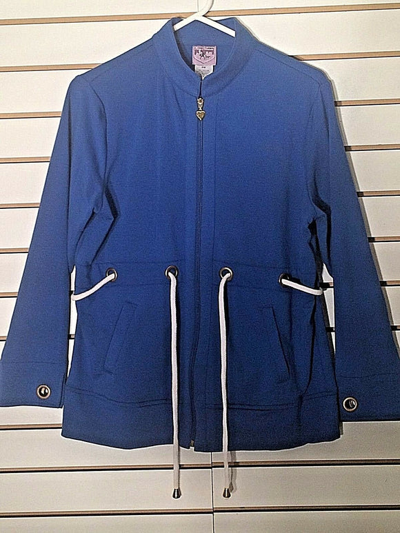 Women's New Petite Blue Cotton Jacket by City Hearts (02113)