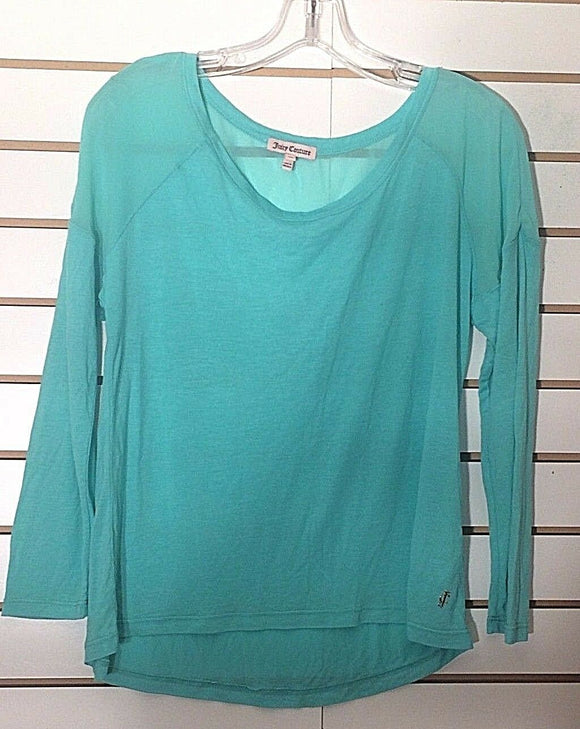 Women's Light Green Sheer Top Size XS by Juicy Couture (02300)
