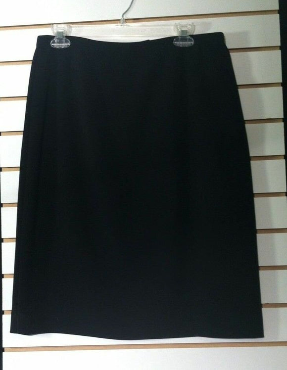Women's Black Lined Straight Skirt Size 12 (00735)