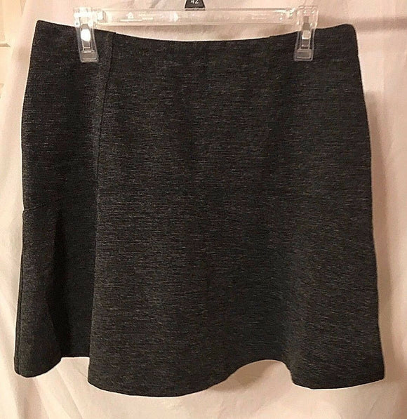 Women's Gray Flare Skirt Size 12 by Ann Taylor LOFT (02906)