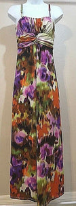Women's Multicolor Tie-Dyed Long Dress Size S by Alyn Paige (04030)