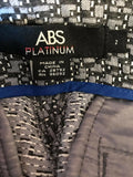 Women's New Gray Textured Pants Size 2 by Abs Platinum (02607)