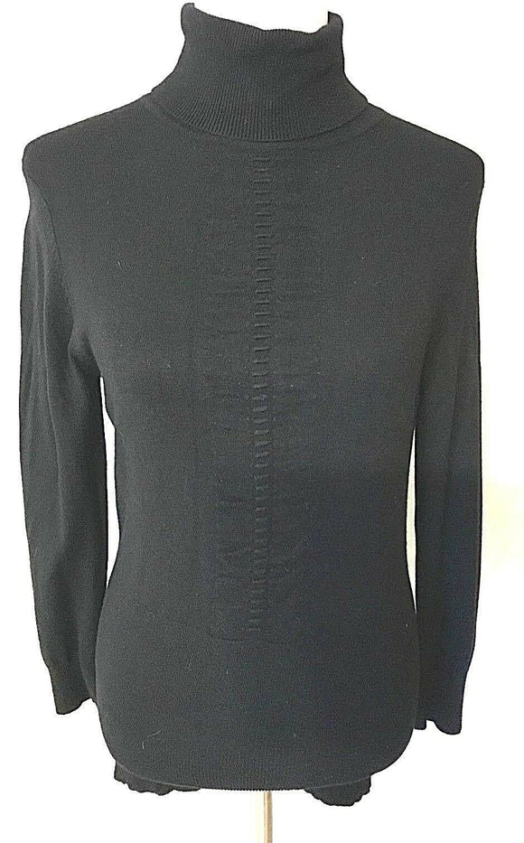 Women's Black Turtleneck Top Size S by Express (03437)
