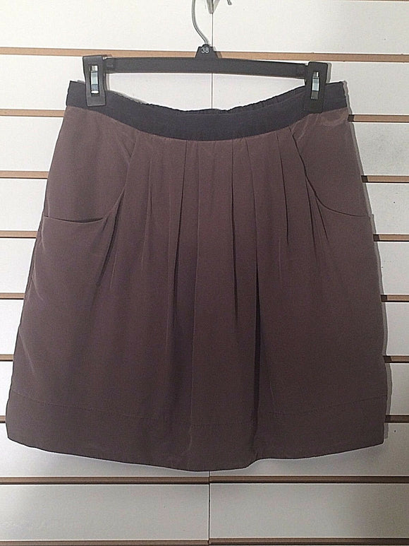 Women's Silk Gray & Black Skirt Size 4 by BCBG MAXAZIA (02249)