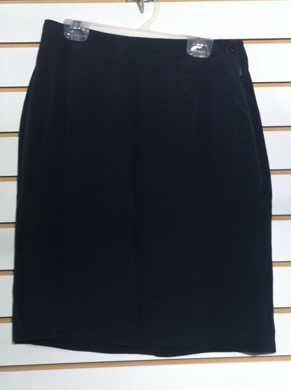 Women's Silk Black Skirt Size 6 by Jones New York (00715)