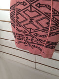 Women's Pink Knit Aztec Design Size XS by Intimately (01761)