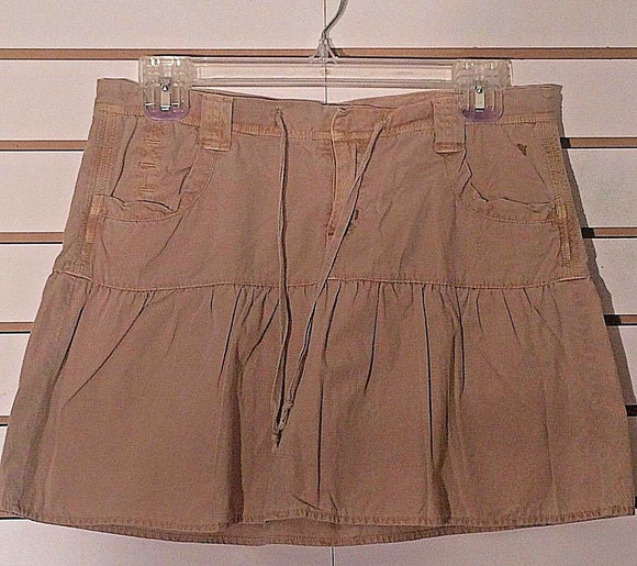 Women's Khaki Mini Skirt Size S by Jade (02236)