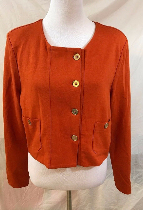 Women's Orange Crop Blazer Size L by H&M (03103)