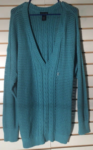 Women's New Plus Size V-Neck Tiffany Blue Sweater Size 26/28 by Lane Bryant (01741)