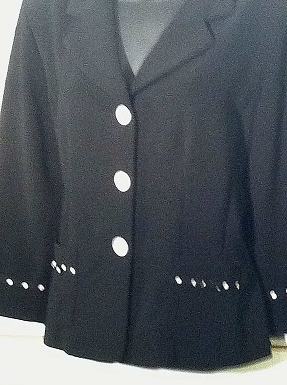 Women's Black Cropped Blazer Size 8 by Danny & Nicole (00360)