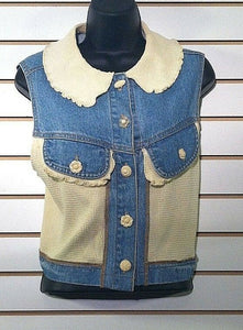 Women's Denim & Knit Button Down Top Size M by Romeo Romeo (00453)