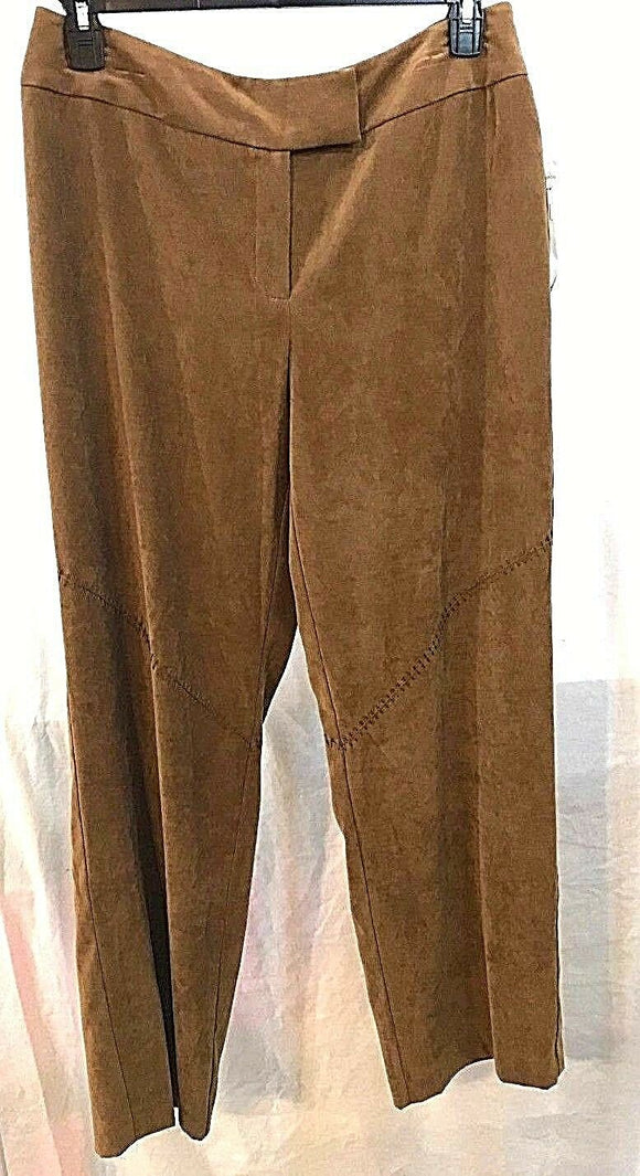 Women's New Brown Soft Stretch Pants Size 14 by Norton McNaughton (03492)