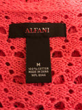Women's Deep Pink Crocheted Sweater Size M by Alfani (02884)