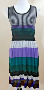 Women's Multicolor Petite Striped Knit Dress Size PM by Just Taylor Petite (04107)