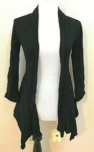 Women's Black Asymmetrical Cardigan Size S by Willi Smith (04259)