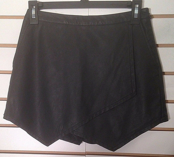 Women's New Faux Leather Skort by Abercrombie & Fitch (02264)