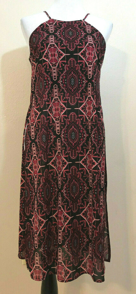 Women's Black & Pink Aztec Design Long Top by FOREVER 21 (04219)