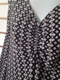 Women's New Black & White V-Neck Dress Size XL by Ellen Tracy (01874)