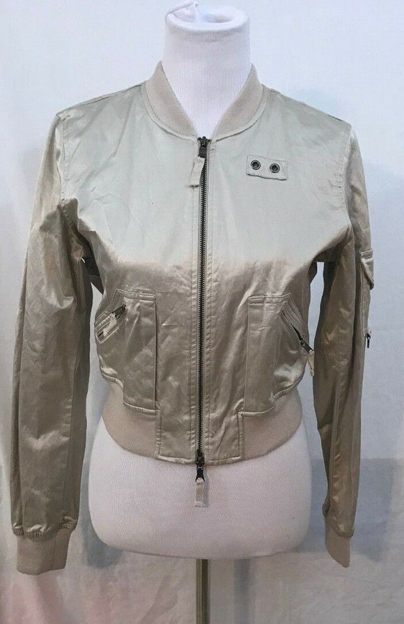 Women's Champagne Colored Short Jacket Size M/M  by Guess Jeans (03459)