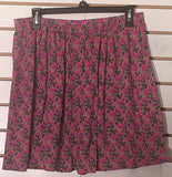 Women's Pink Multi-Color Floral Skirt Size L by Mossimo (02244)