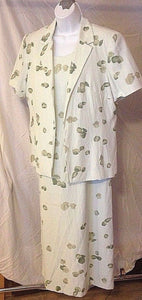 Women's Green Floral 2 Pc. Dress & Jacket by Norton McNaughton Dresses (02364)