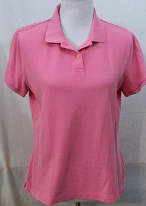 Women's Pink Polo Shirt Size M by Lands' End (03441)