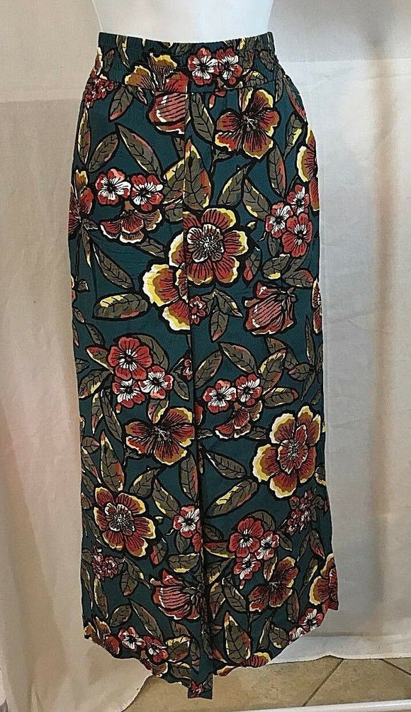 Women's Petite Green Floral Lounge Pants Size 2P by Ann Taylor LOFT (03231)
