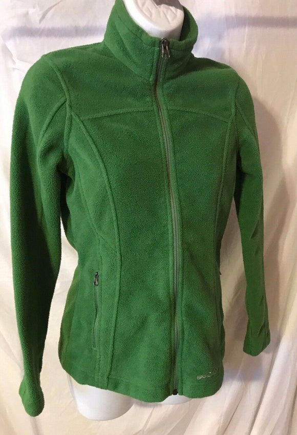 Women's Green Fleece Jacket Size XS by Eddie Bauer (02827)