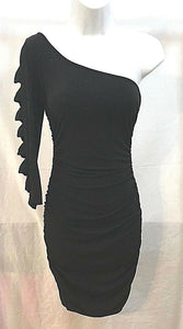 Women's Black Sparkly One Shoulder Dress Size S by Charlotte Russe (03487)