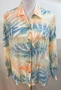 Women's Petite Multi-Color Sheer Floral Shirt Size PM by Koret (03539)