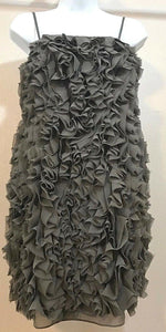 Women's Gray Frilly Ruffled Cocktail Dress by Miss Me Couture (04016)