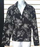 Women's Black & White Floral Blazer by Chico's (00534)