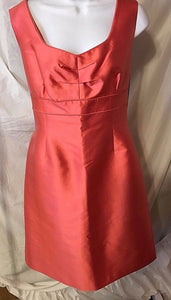 Women's New Silk/Wool Blend Coral Cocktail Dress Size 14 by Tahari (02782)