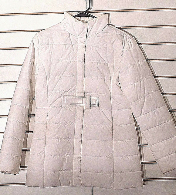 Women's White Down Jacket Size S by Moda International (02202)