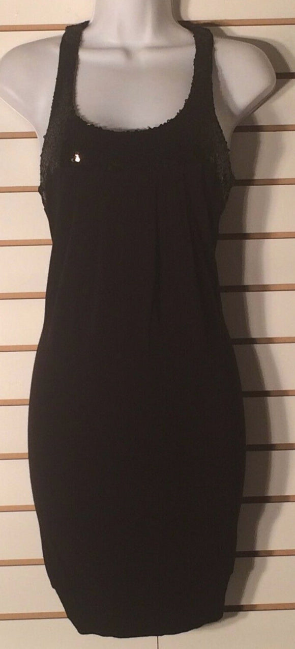 Women's Black Beaded Dress Size M by Lu Lu Lame' (01580)
