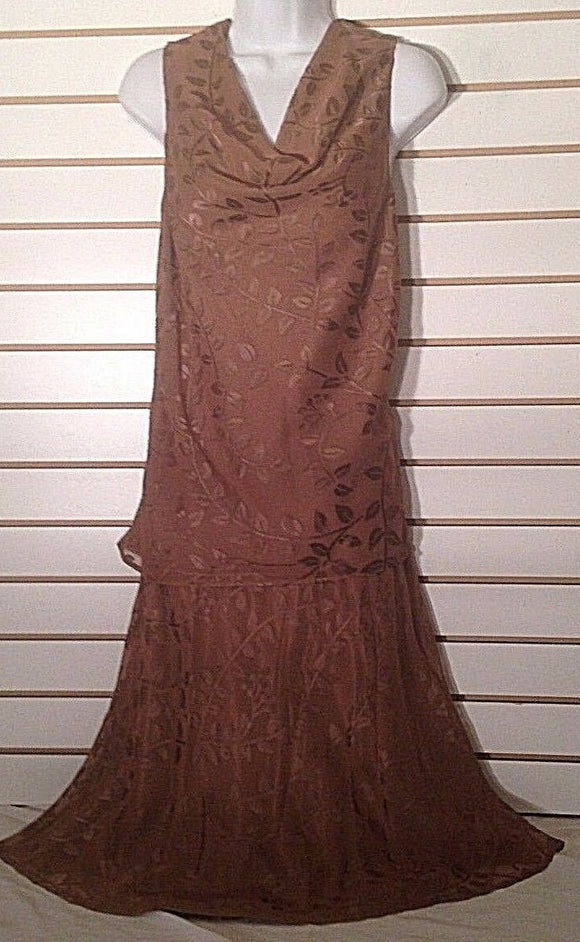 Women's Rust Colored 2 Pc. Skirt Set Size 12 by Terry Lewis (02272)