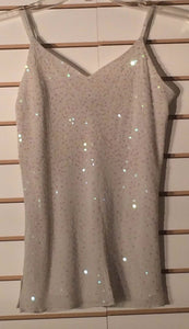 Women's Silk Cream Beaded Embellished Top Size 2 by INC International Concepts (01634)