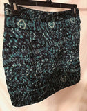 Women's Blue Multi-Color Layered Skirt Size L by XXI (02888)