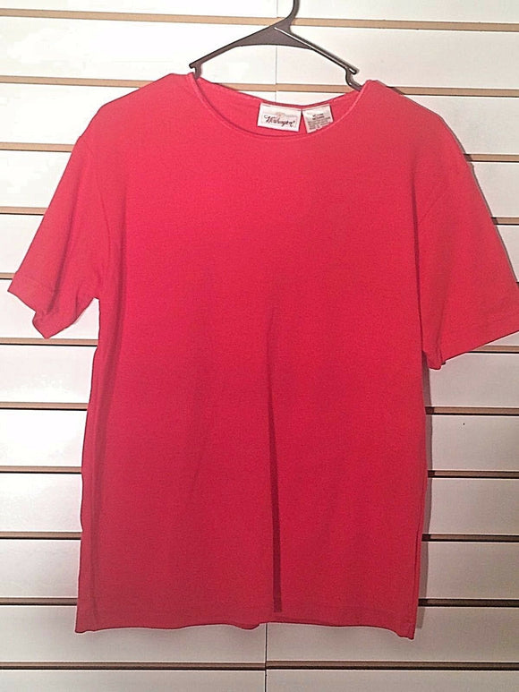 Women's New Red Knit Top Size M by Worthington (02114)